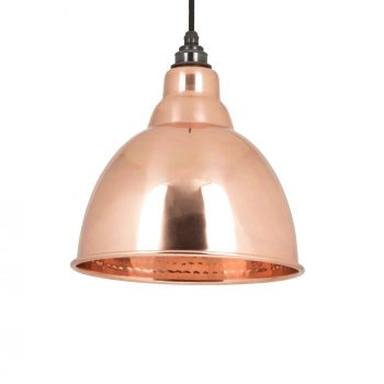 Hammered Copper Brindley Pendant