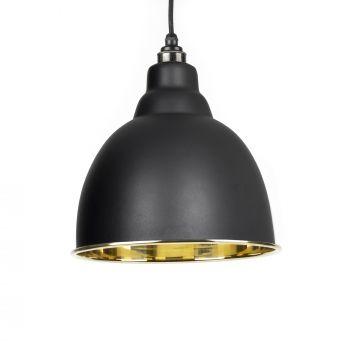 Black Smooth Brass Brindley Pendant