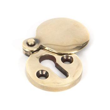 Aged Brass 30mm Round Escutcheon