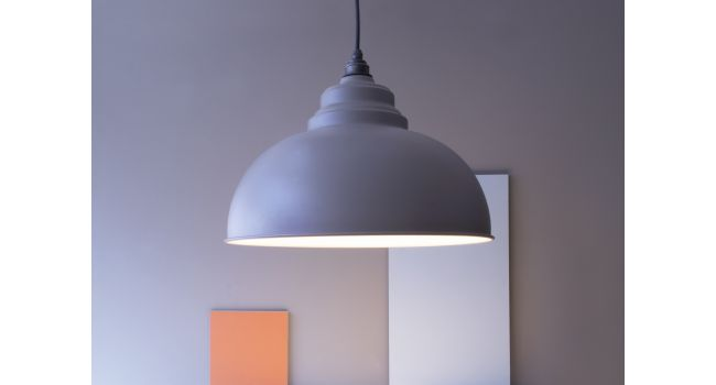 The Brindley Pendant in Pale Blue