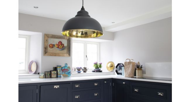 Black Smooth Brass Brindley Pendant